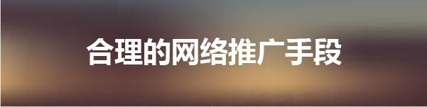内蒙古网站建设合理的网络推广手段